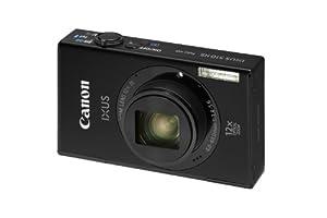 Canon IXUS 510 HS Digitalkamera (10,1 Megapixel, 12-fach opt. Zoom, 8,1 cm (3,2 Zoll) Touch-Display, WiFi, Full-HD) schwarz