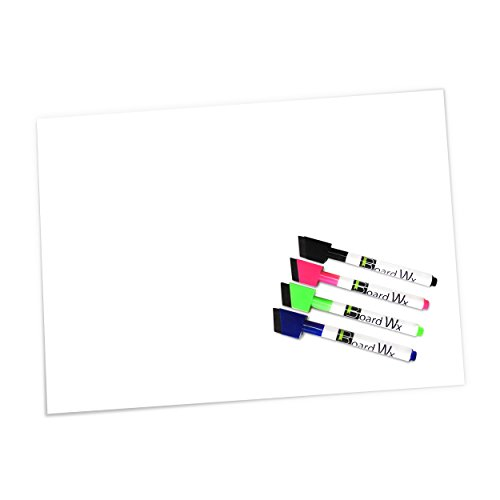 board-wx-magnetic-whiteboard-sheet-for-fridge-with-4-dry-erase-markers-30-x-43cm-white
