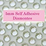 300 Clear 5mm Acrylic Rhinestone Gems ~ Self Adhesive