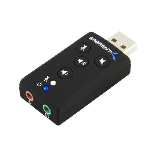 Sabrent Usb 2.0 Virtual External 7.1 Surround Sound Adapter (Usb-Audd)