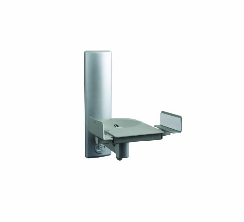 B-Tech BT77 - Ultragrip ProTM Side Clamping Loudspeaker Wall Mounts with Tilt and Swivel - Finished in Silver