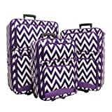 Luggage 3pc Chevron Purple