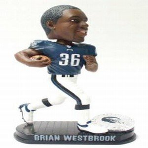 Buy Low Price Forever Collectibles Philadephia Eagles Brian Westbrook Forever Collectibles Black Base Edition Bobble Head Figure (B000I7IHWS)