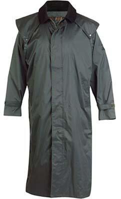 Jack Murphy Lambourne II Mens Full Length 100% Waterproof Bush Coat in Olive