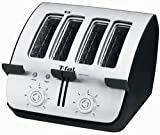 T-fal TT7461 Avante Deluxe 4-Slice Toaster with Bagel Function, Black