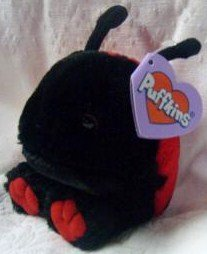 Dottie the Red and Black Ladybug Puffkin By Swibco Toy - 1
