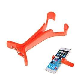 "AKSHAJâ""¢ Portable Mobile Tablet Holder Clip Cradle for Smart Phones Mobile Phones / GPS / Pad Placing Plate - Red"