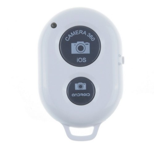 TPCROMEER Wireless Bluetooth Remote Control Self-timer Camera Shutter for iPhone /iPad/iPad Air Mini/Samsung Galaxy and Android Smartphone – White