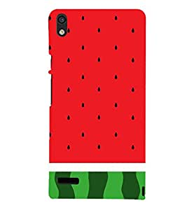 Watermelon Redish 3D Hard Polycarbonate Designer Back Case Cover for Huawei Ascend P6 :: Huawei P6 :: Huawei Ascend P6 Dual
