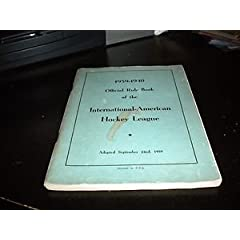 1939-1940 HOCKEY OFFICIAL RULE BOOK !!