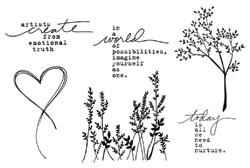Unity Stamps Donna Downey Unmounted Rubber Stamps Create Today