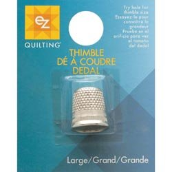 Wrights Brass Plated English Thimble Large 882122; 6 Items/Order