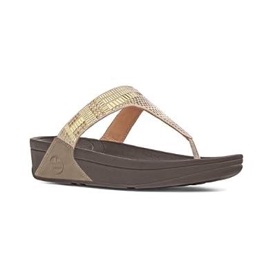 Fitflop Ladies Chada Aztek Beige Leather Sandals Size 4