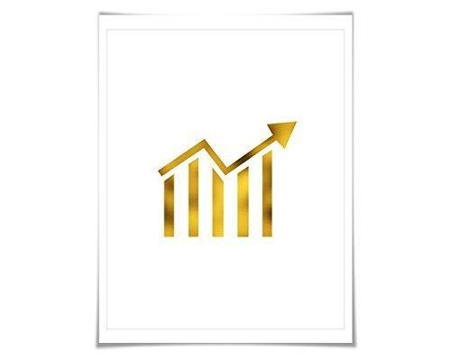 stock-ticker-gold-foil-art-print-7-foil-colours-3-sizes-banking-finance-poster-stock-ticker-symbol-w