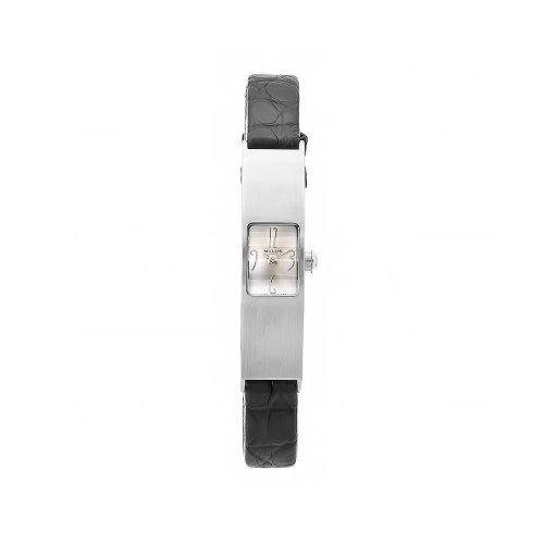 Milus Women's ERI004 Eridana Alligator Strap Silver Dial Watch