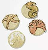 Attachable Wine Coasters - Star Fish, Sand Dollar, Coral & Seahorse