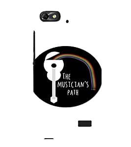 EPICCASE The Musician's Path Mobile Back Case Cover For Xiaomi Redmi Mi4i (Designer Case)