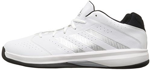 Adidas Performance Men's Isolation 2 Low Basketball Shoe,White/ Silver/ Black,11 M US
