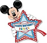 MICKEY MOUSE balloon PERSONALIZE w/NAME happy BIRTHDAY 24x30 NEW vhtf (MULTI, 1)