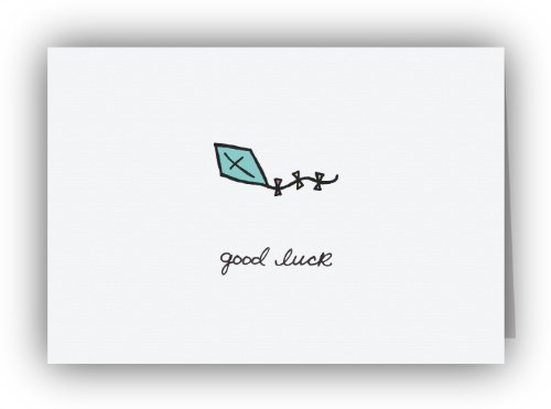 Blue Kite Good Luck Cards