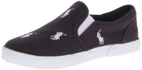 Polo Ralph Lauren Kids Bal Harbour Rpt Sneaker (Toddler/Little Kid),Navy/White,13 M Us Little Kid