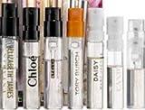 Luxe Perfume Sampler Collection 7 pcs kit/ Prada Candy Tory Burch Chloe Flowerbomb Marc Jacobs Daisy Stella Nirvana