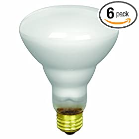 Feit Electric 65BR30/FL/MP-130 65-Watt BR30 Indoor Reflector Flood Light, White, 6 Pack