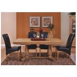 Linden Solid Oak Furniture Large Extending Dining Table