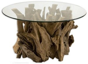 Uttermost Solid Teak Driftwood Cocktail Table