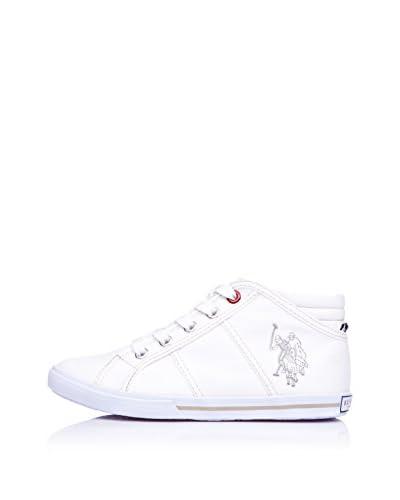 Us Polo Shoes Sneaker Alta [Bianco]