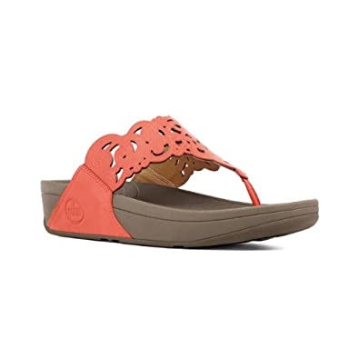 Fitflop Ladies Flora Red Leather Sandals Size 8