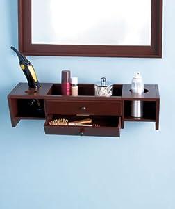 Simple White Make Up Organizer Display Bathroom Storage
