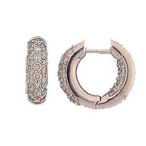 14k Round Diamond In And Out Huggie Earrings (1.32 cts.tw.)