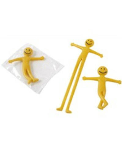 20 X Stretchy Smiley Men Party Bags Fillers Yellow By Partyrama