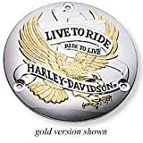 H-D Live to Ride Derby Cover, Gold & Chrome 25391-90T