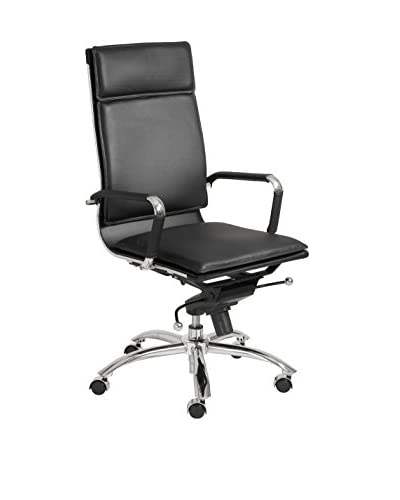 Euro Style Gunar Pro High Back Office Chair, Black