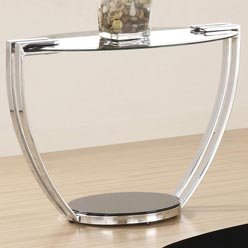 Cheap Bella End Table in Chrome Finish by Coaster Furniture (B0051PE6AE)