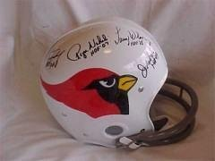 Nfl Cardinals T b rk Helmet Auto By 4 Living Hofers - Autographed MLB Helmets and... by Sports+Memorabilia