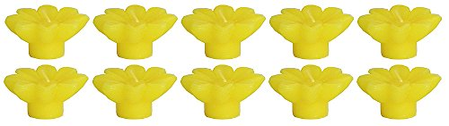 Lemon Dollsofindia Set Of Ten Lemon Aroma Floating Wax Candles  Wax