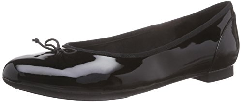 Clarks - Couture Bloom, Ballerine basse Donna, (Nero), 40