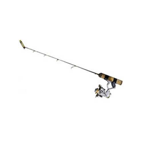 Frabill Ice Hunter 26-Inch  Light Finess  Perch Ice Fishing Rod and Reel Combination