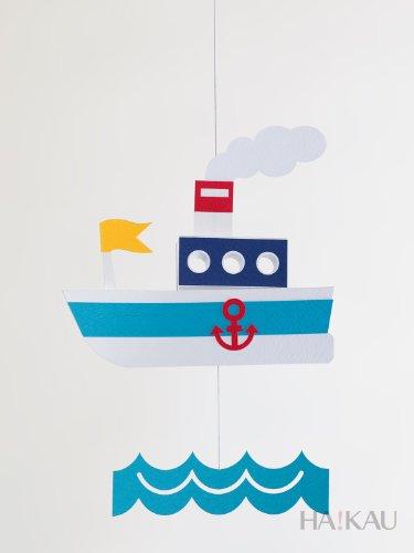 【ペパモ】 ペーパー モビール キット キュートな ペーパークラフト フネ ( 船 )