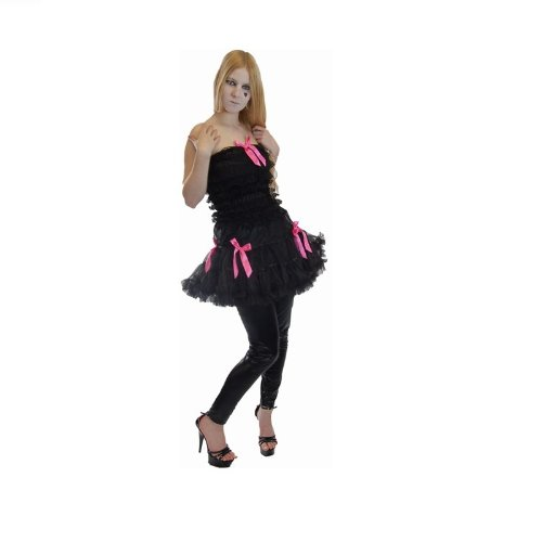 Industries dell'abito Poizen V-dress Black-Pink nero-rosa M/L