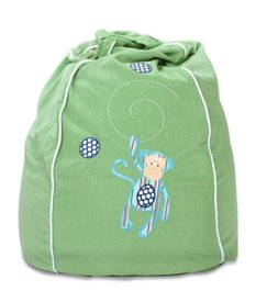 Cocoon Couture Mini Monkey Kids Bean Bag Cover, Blue Monkey on Green by Cocoon Couture