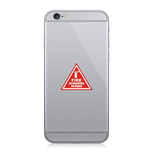 Fire Extinguisher On Board – Cell Phone Sticker – Decal – Die Cut