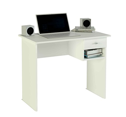 meka-block-k-9453b-computer-desk-1-drawer-90-cm-wide-colour-white