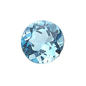 4.01 Cts of AAA 10 mm Round Loose Swiss Blue Topaz ( 1 pc ) Gemstone