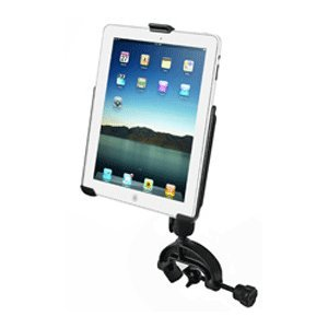 RAM High Strength Composite Yoke Glare Shield Clamp Mount with EZ-ROLL'R(TM) Model Specific Cradle for the Apple iPad 4, iPad 3, iPad 2 & iPad 1 WITHOUT CASE