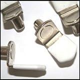 """WIDGETCO 5mm Nickel """"L"""" Shelf Pins w/ vinyl(QTY 25)"""