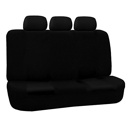 FH GROUP FH-FB051R013 FH GROUP Universal Bench Seat Cover 40/60 Split and 50/50 Split Black (40 60 Seat Covers For Trucks compare prices)